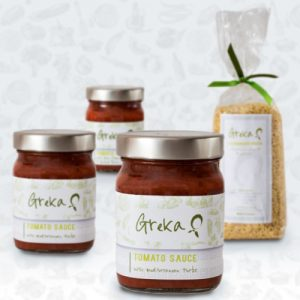 Greka Foods | Greek Food | Sauce and Pasta Gift Set