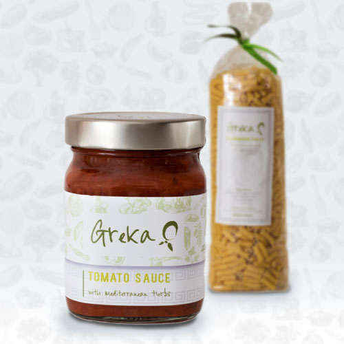 Greka Foods | Authentic Greek Food | Tomato sauce and Pasta Starter pack - Quality Greek products