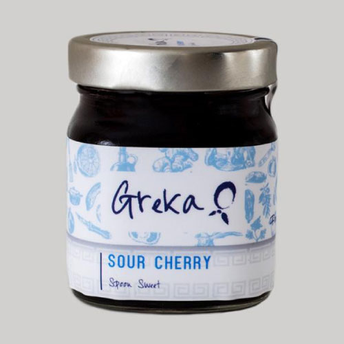 Greka Foods | Authentic Greek Jam | Sour Cherry Spoon Sweet - Traditional - Quality - Award winning