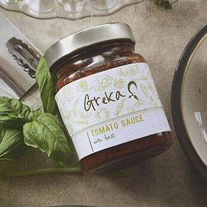 Greka Foods | Greek Sauces | Tomato Ouzo and Basil Pasta Sauce