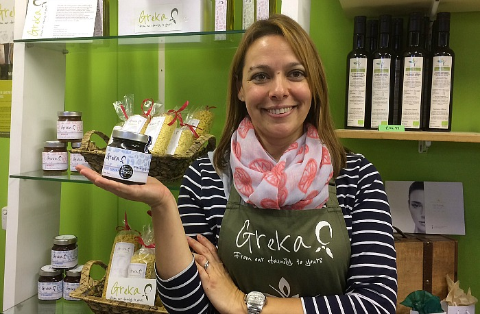 Greka Foods   Greek Jam   Sofia with Sour Cherry Jar - Authentic - Award winning Greek products