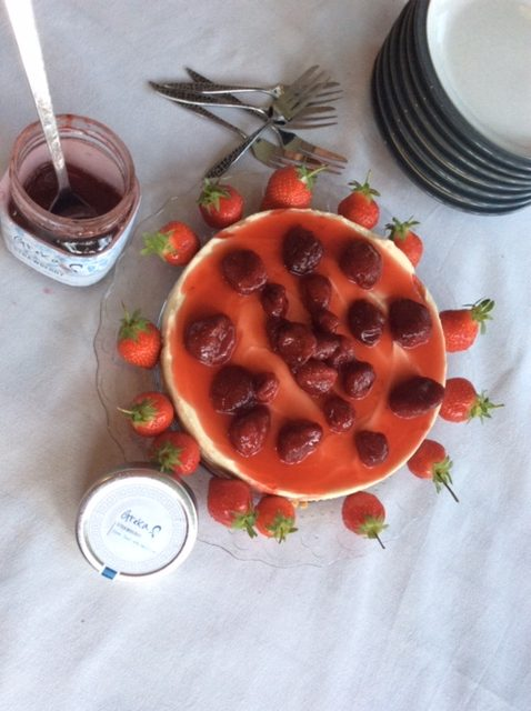 Greka Strawberry Cheesecake