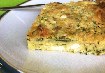 Bazina – Greek Crustless Courgette & Feta Pie